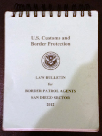 USCBP Law Bulletin Indicates Agents Operating Under Color of Law At Roadblocks