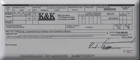 Lawsuit Settlement Check