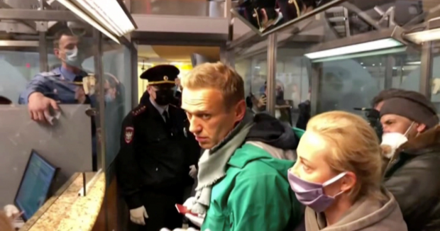 CIA/NED Asset/Convicted Felon Navalny Arrested in Moscow