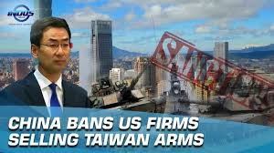 China to Ban Doing Business with Firms Selling Weapons to Taiwan
