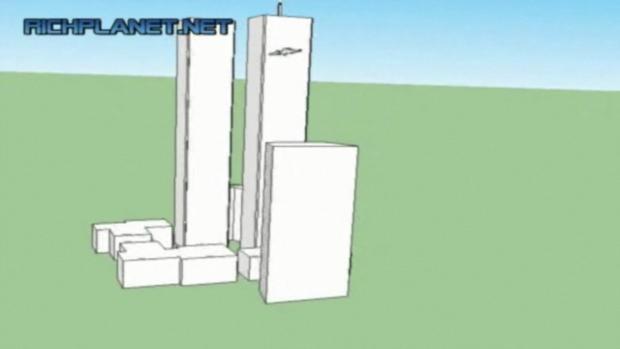 9/11 exact 3 D representation