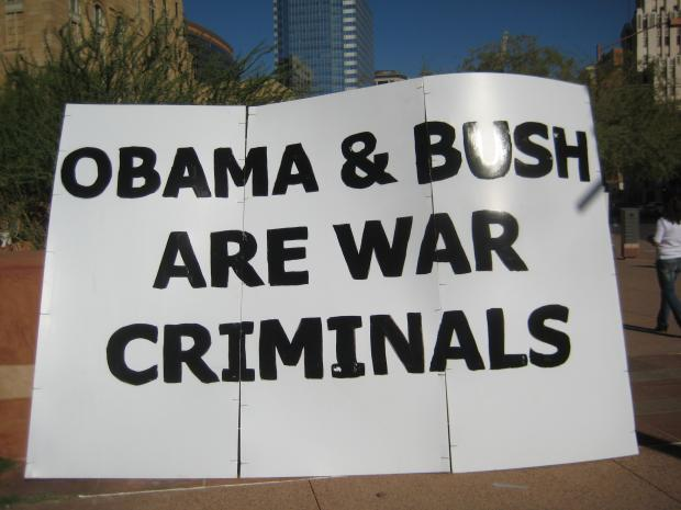 Occupy Phoenix Obama Bush AR-15