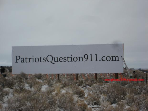 patriots question 911 Morpheus telsa 4409 I 40 sanders Arizona billboards 911 inside job