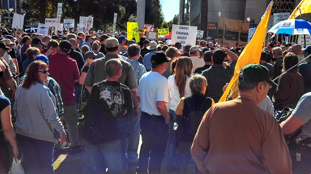 Photos from the AZ State Capital at the 'March on State Capitals' in support of the 2nd Amendment