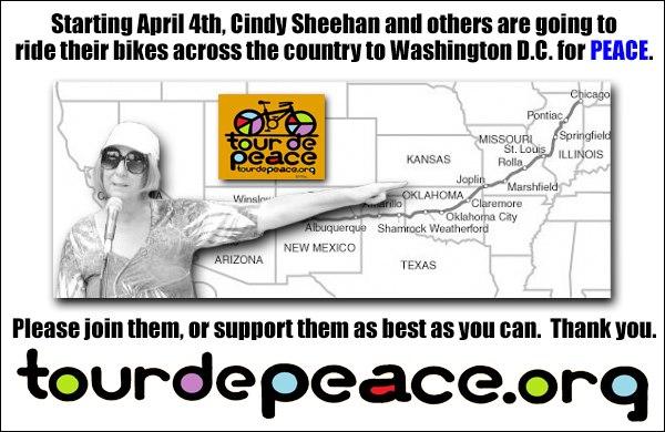Tour de Peace: The Road Less Taken (Cindy Sheehan)