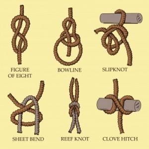 Survival Knot Tying Techniques