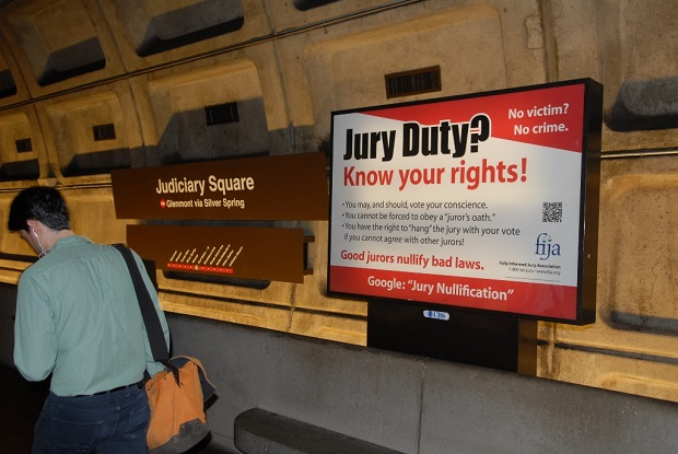 Jury Nullification Campaign running in D.C, New York, and Los Angeles