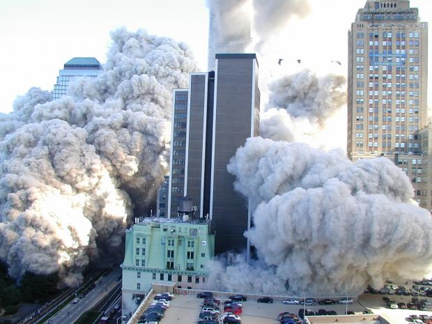911 WTC buildings blasted dust