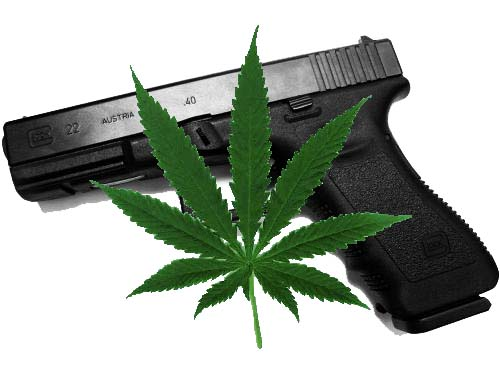 Image result for pot and guns