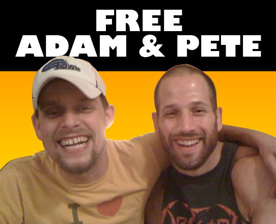 Adam & Pete from Liberty on Tour are BOTH in a Cage!