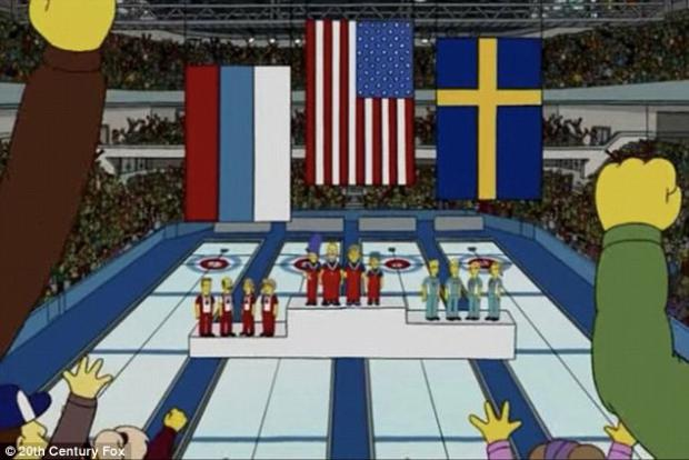 Theyve done it again the simpsons predicted usa would win the simpsons predicted usa would win curling gold and sweden publicscrutiny Images