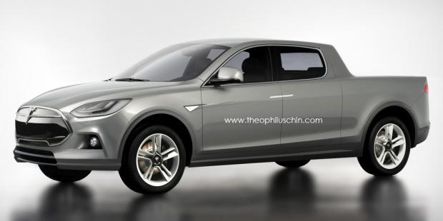 Tesla Model P Electric Pickup Truck Rendered Freedoms