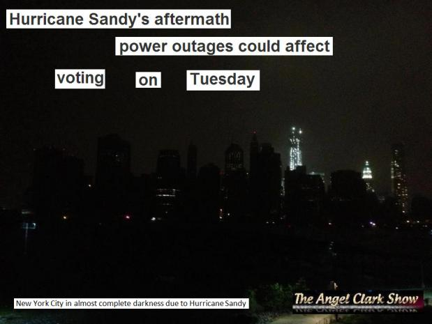 Hurricane Sandy's aftermath and power outages could affect voting on Tuesday
