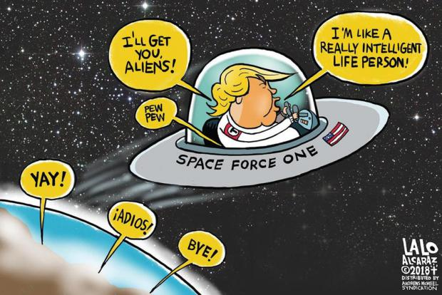 Trumps Space Force Will Guard The U S From Above Nasa Chief Says