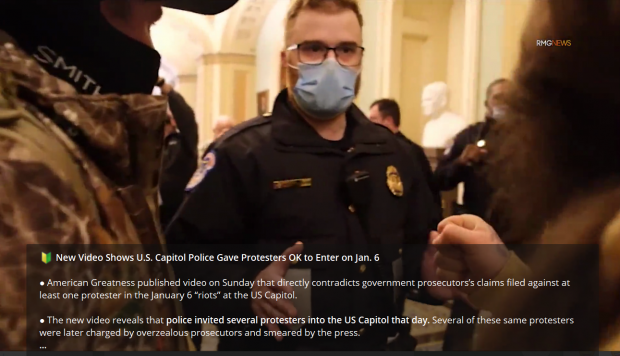 New Video Shows U.S. Capitol Police Gave Protesters OK to Enter on Jan. 6