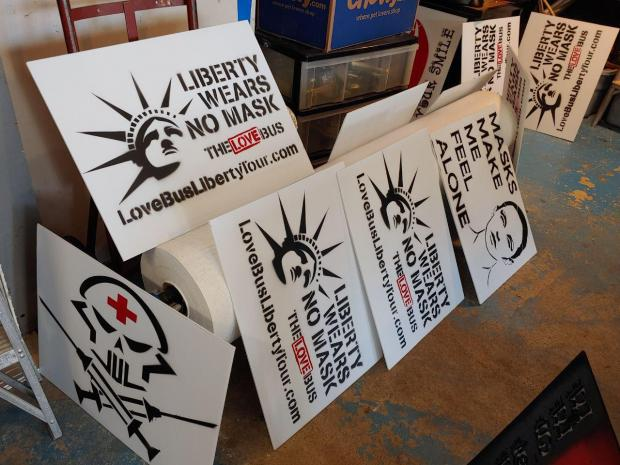 Come help make signs to hold and put up at Freedom From Mask Mandates in Manchester, NH