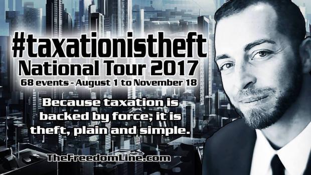 Meet Adam Kokesh @ the culmination of #taxationistheft Nat Tour Sat Nov 18; 6-9 pm; @ the Hancock'
