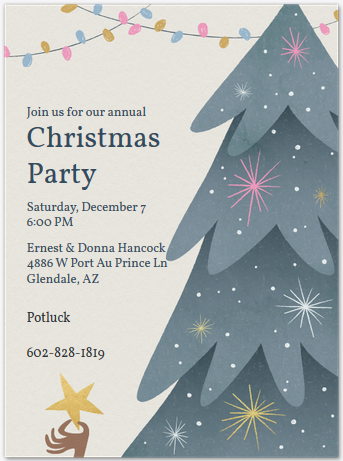 Christmas Party @ The Hancock's - Sat Dec. 7th 2019 from 6 p.m. til??