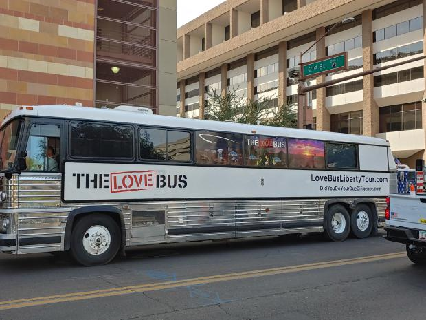 The LOVE Bus in Downtown Phoenix!