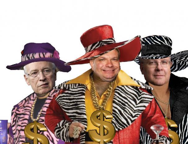 John Fund, Dick Cheney, and Karl Rove