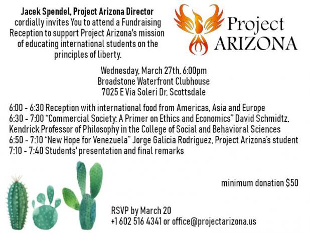 Project Arizona News #3 (2019) - INVITATION FOR OUR EVENT ON MARCH 27TH