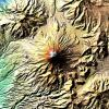 Massive Earthquakes Make Volcanoes Sink