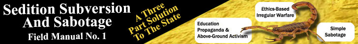 SEDITION SUBVERSION AND SABOTAGE FIELD MANUAL No. 1; A Three Part Solution to The State
