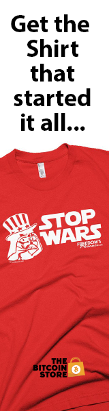 Stop Wars T-shirts at The Bitcoin Store